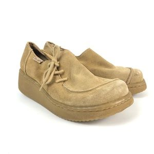Mudd FLOYD Brown Leather Low Top Platform Shoes